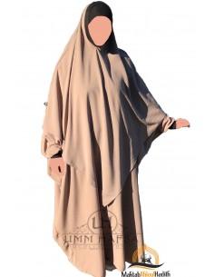 Abaya/Hijab Lycra Umm Hafsa - Taupe