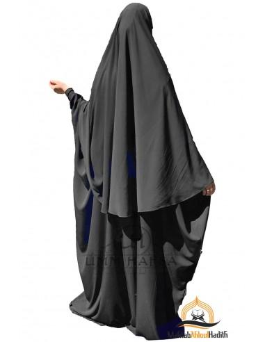 Ensemble Abaya/hijab Maryam Umm Hafsa – Noir