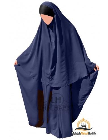 Ensemble Abaya/hijab Maryam Umm Hafsa – Bleu
