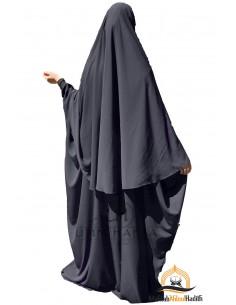 Ensemble Abaya/hijab Maryam Umm Hafsa – Gris