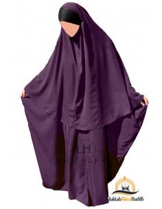 Ensemble Abaya/hijab Maryam Umm Hafsa – Prune
