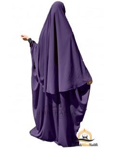 Abaya/Hijab Maryam Umm Hafsa – Aubergine farbe
