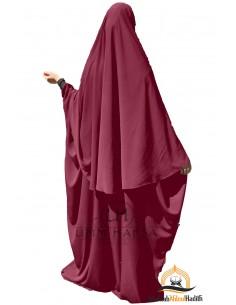 Abaya/Hijab Maryam Umm Hafsa – Burgundy