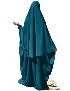 Ensemble Abaya/hijab Maryam Umm Hafsa – Vert Canard