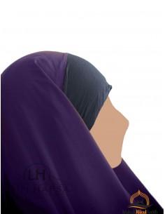Hijab / Khimar Maryam Umm Hafsa - Aubergine farbe