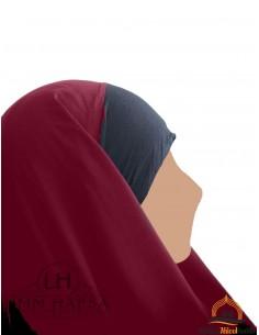 Hijab / Khimar Maryam Umm Hafsa - Burgundy