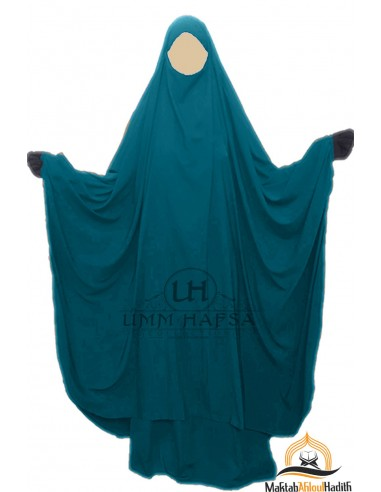 "Big jilbab deux pièces ""JUPE"" umm hafsa – Vert Canard"