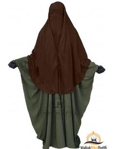 Niqab 2 Stück Clips Umm Hafsa 1m50 - Braun
