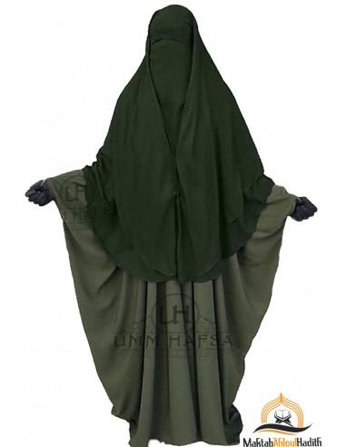 Niqab 2 Stück Clips Umm Hafsa 1m50 - Khaki