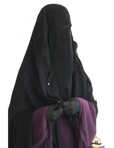 Niqab/Sitar Casquette à clips Umm Hafsa 1m60 - Noir