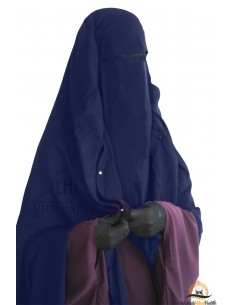 Niqab Cape Flap with Snap Buttons 1m60 - Blue