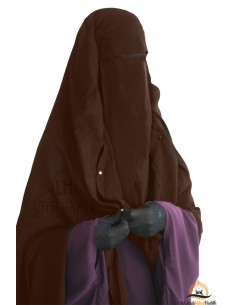 Niqab Cape Flap with Snap Buttons 1m60 - Brown