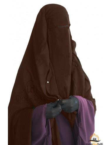 Niqab/Sitar Casquette à clips Umm Hafsa 1m60 - Marron
