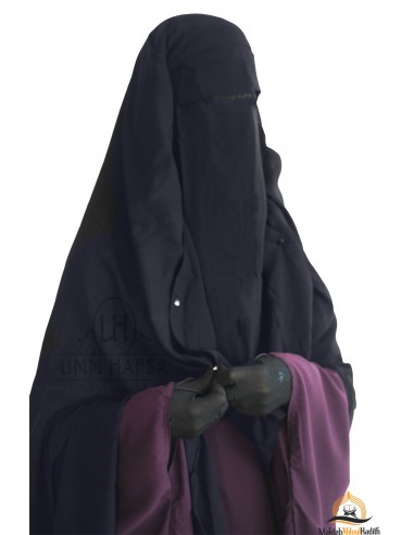 Niqab/Sitar Casquette à clips Umm Hafsa 1m60 - Gris