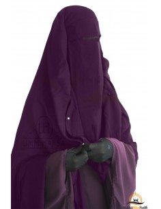Niqab Cape Flap with Snap Buttons 1m60 - Purple