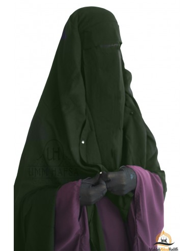 Niqab Cape Flap with Snap Buttons 1m50 - Green
