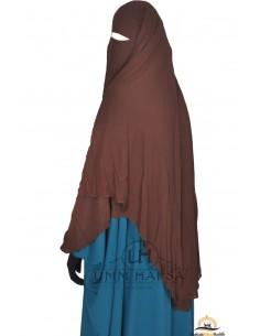 Niqab- Cape von Umm Hafsa 1m50 - braun