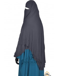 Niqab Cape Flap with Snap Buttons 1m50 - Grey