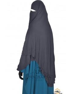 Niqab/Sitar cape à clips Umm Hafsa 1m50 - Gris