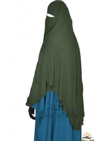Niqab/Sitar cape à clips Umm Hafsa 1m50 - kaki