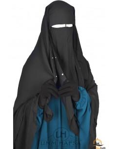 Niqab Cap von Umm Hafsa 1m50 - schwarz