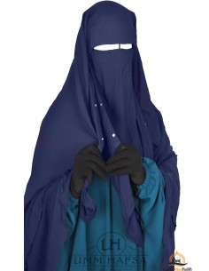 Niqab Cap von Umm Hafsa 1m40 - blau