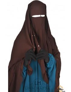 Niqab/Sitar Casquette à clips Umm Hafsa 1m40 - Marron