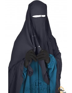 Niqab Cape Flap with Snap Buttons 1m40 - Grey