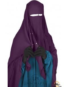 Niqab/Sitar Casquette à clips Umm Hafsa 1m40 - Prune