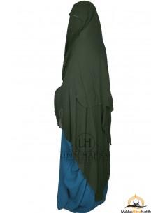 Three Layer Flap Niqab Cap 1m60 Umm Hafsa - Khaki