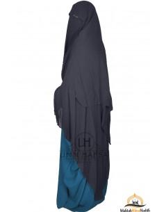 Three Layer Flap Niqab Cap 1m60 Umm Hafsa - Grey