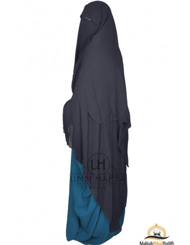 Niqab/Sitar Casquette 1m60- Gris