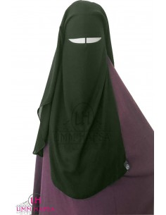 Three Layer Flap Niqab 95cm Umm Hafsa - Khaki