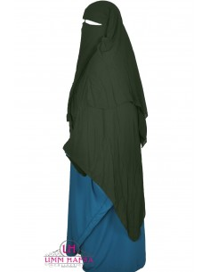 Three Layer Flap Niqab 1m50 Umm Hafsa - Khaki