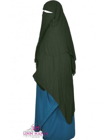 Niqab/Sitar 3 voiles 1m50 - Kaki