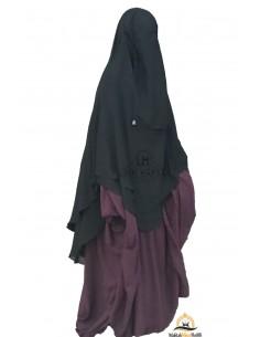 Niqab Hafsa 1m70 Umm Hafsa - Schwarz