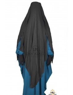 Niqab/Sitar 3 voiles 1m60 - Noir