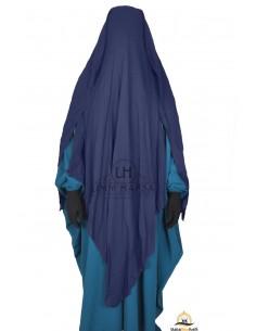 Niqab/Sitar 3 voiles 1m60 - Bleu