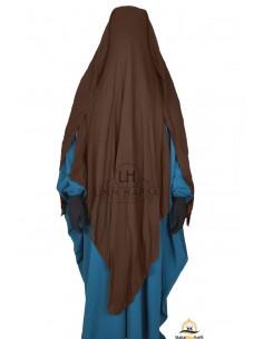 Three Layer Flap Niqab 1m60 Umm Hafsa - Brown