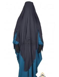 Three Layer Flap Niqab 1m60 Umm Hafsa - Grey