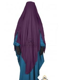 Niqab/Sitar 3 voiles 1m60 - Prune