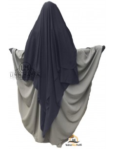 Three Layer Flap Niqab Cap 1m50 Umm Hafsa - Grey