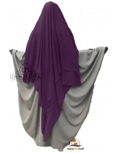 Three Layer Flap Niqab Cap 1m50 Umm Hafsa - Purple