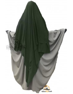 Three Layer Flap Niqab Cap 1m50 Umm Hafsa - Khaki