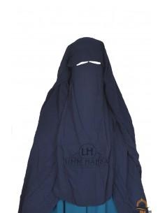 Three Layer Flap Niqab Cap 1m25 Umm Hafsa - Blue