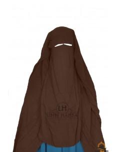 Niqab/Sitar Casquette umm hafsa 1m25 - Marron