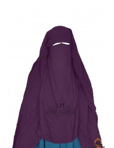 Three Layer Flap Niqab Cap 1m25 Umm Hafsa - Purple