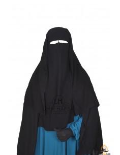 Niqab 3 Segel Umm Hafsa 1m25 - Schwarz