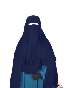 Niqab 3 Segel Umm Hafsa 1m25 - Blau