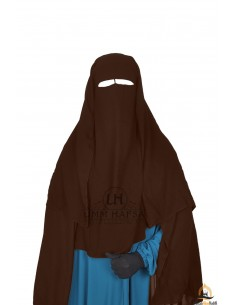 Three Layer Flap Niqab 1m25 Umm Hafsa - Brown